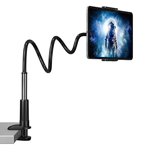 Andobil Gooseneck Tablet Holder - Adjustable Tablet Mount Stand Compatible with iPad iPhone Series/Nintendo Switch/Samsung Galaxy Tabs/Amazon Kindle Fire HD and More 4.6-10.5' Devices