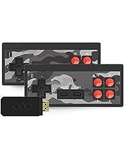 Handhållna klassiska spel, bärbar Y2SHD Plus videospelskonsol inbyggd i 1 700 spel trådlös styrenhet