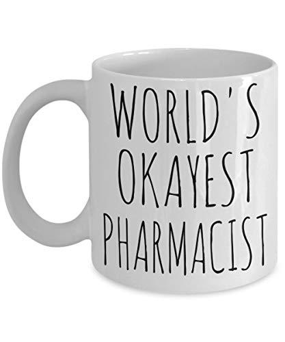 Zachrtroo Welt-okayestes - Vasos de farmacia para regalo de cumpleaños navideños, diseño de drogista
