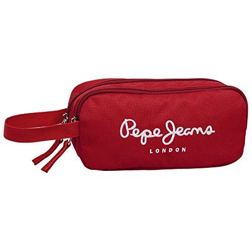 Pepe Jeans Trousse de Toilette Deux Compartiments Vanity, 22 cm, 1,54 L, Rouge