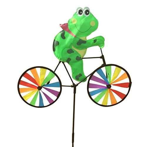 JUSTDOLIFE Wind Spinner Kleurrijke Cartoon dier rit een fiets windmolen tuin decoratie