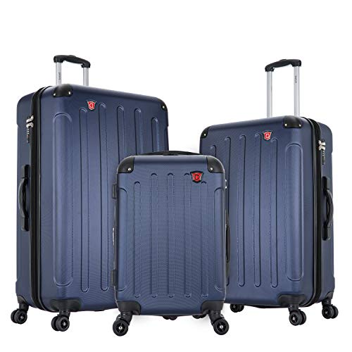 DUKAP Luggage Set 3pc - Intely Collection Smart - Hardside 3 piece set 20''/28''/32'' with USB and integrated weight scale - Blue - Suitcases with Wheels
