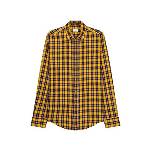 Seidensticker Slim Fit Langarm Twill Camisa, Amarillo, L/4XL para Hombre