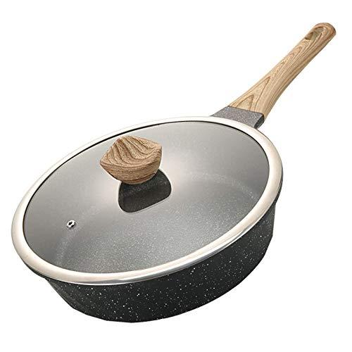 IUYJVR Sartén Multifuncional Antiadherente de Piedra Maifan sin Vapor de Aceite Wok Cocina de inducción Horno Apto para lavavajillas