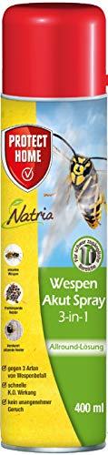 PROTECT HOME Natria Akut Spray 3-in-1 Wespenspray gegen einzelne Wespen und Wespennester mit Sprührohr, 400 ml