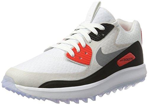 Nike Nike Damen Air Zoom 90 It Golfschuhe, Mehrfarbig (White/cool Grey/neutral Grey/Black/Bright Crimson), 38.5 EU