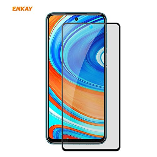 JIANGNIUS Screen Protector for Redmi Note 9S / Note 9 Pro Hat-Prince 0.26mm 9H 6D Privacy Anti-spy Full Screen Tempered Glass Film