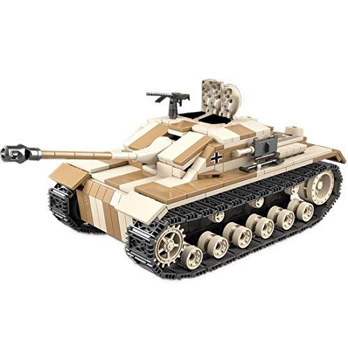 TOPD Kit de Modelo de construcción de Tanques Militares, 721 Piezas de construcción de Tanques Militares alemán, Montaje de Edificios e insertando Juguetes de cumpleaños adul