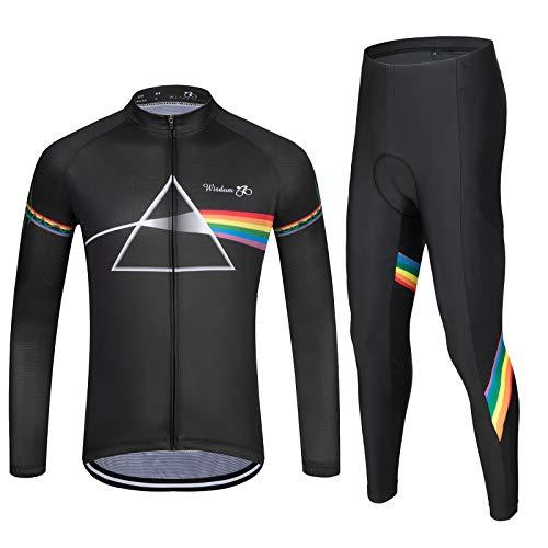 MTTHT Men/'s Cycling Jersey Suit Bicycle Shirt Bike Racing 9D Bib Gel Pants Set