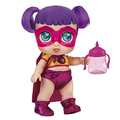 Super Cute - Super Cute Muñeca Superheroína Sisi con biberón mágico, ropa reversible y accesorios Muñeca interactiva con luz y sonidos Muñecas niñas niños 3 años Muñecas bebé recién nacido (85393)