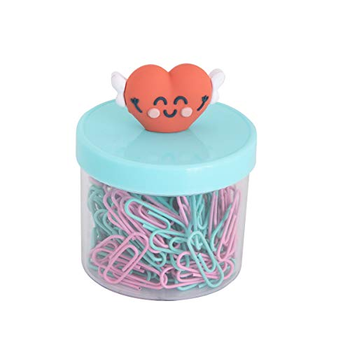Mr. Wonderful Bote con clips – Forma de corazón (WOA10394SM)