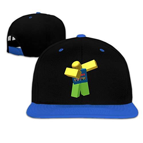 YGS Printed Child Hip Hop Baseball Cap Snapback Baseball Cap Roobllox Dab Design Gift Blue