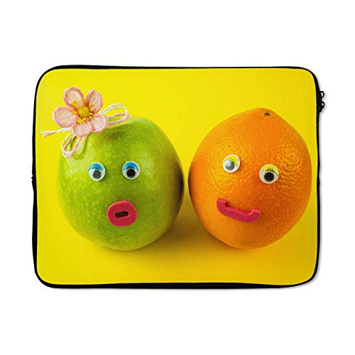 Laptophoes 17 inch 41x32 cm - Granny Smith - Macbook & Laptop sleeve Twee verschillende fruitsoorten - Laptop hoes met foto