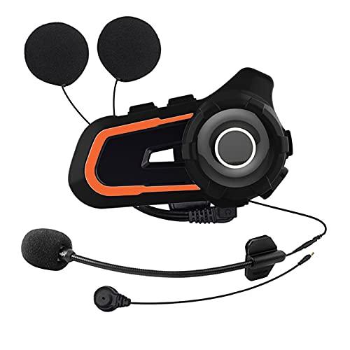 AIHOUSE Intercomunicador Bluetooth para Motocicleta, Auriculares Bluetooth para Casco Impermeable, Sistema Comunicación Bluetooth para Motocicleta 1000 M para ATV/Dirt Bike/Off Road hasta 3 Pasajeros