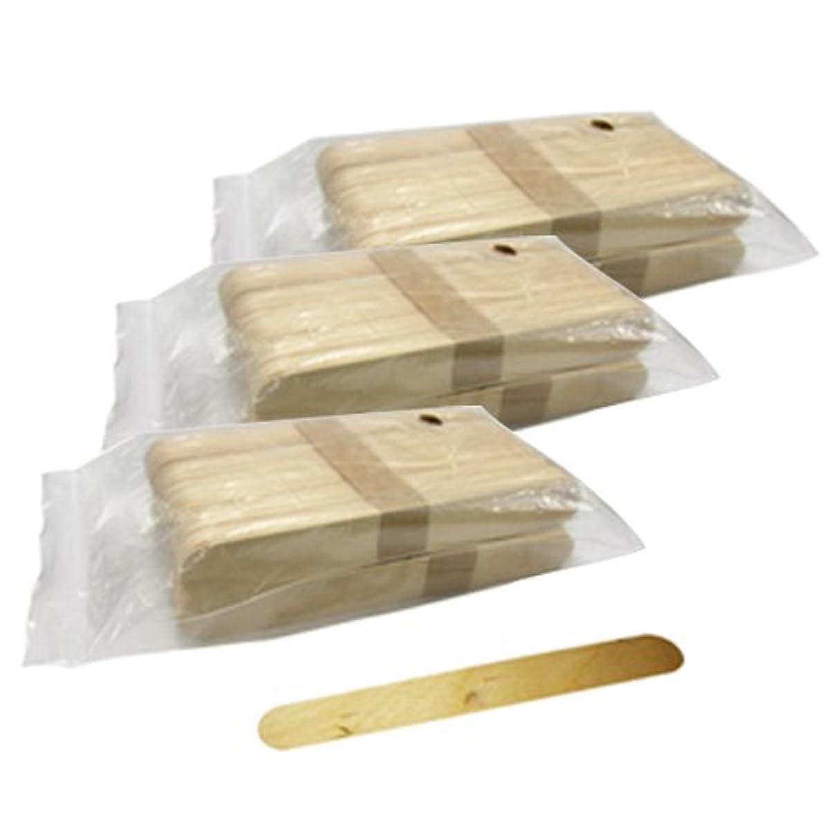 コンパクトマイクロ必要とする使い捨て【木ベラ/ウッドスパチュラ】(業務用100枚入り) × 3袋セット(計300枚)/WAX脱毛等や舌厚子にも …