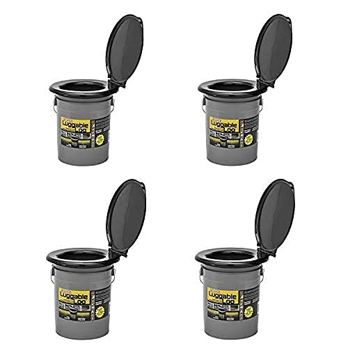 Reliance Products Luggable Loo Portable Lightweight 5gal Toilet, Gray (2 Pack)