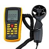 Lcd-Windgeschwindigkeitsmessgerät Hochpräzise Anemometer für Handheld-Digital-Lcd-Windgeschwindigkeitsmessgerät Luftstromgeschwindigkeitsthermometer mit...