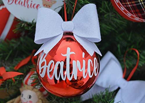 Palla Albero Di Natale PALLINA DI NATALE PERSONALIZZATA CON NOME DECORAZIONE NATALIZIA