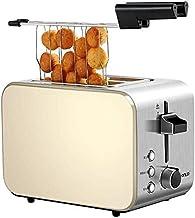 Toaster 2 tranches, pain grille-pain grille d'acier inoxydable pain grillé avec 6 brunissage de dégivrage réchauffer bouto...