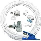 Wasserzulaufleitung Anschluss Set für Kühlschrank SBS 10m Wasserschlauch T-Stück...