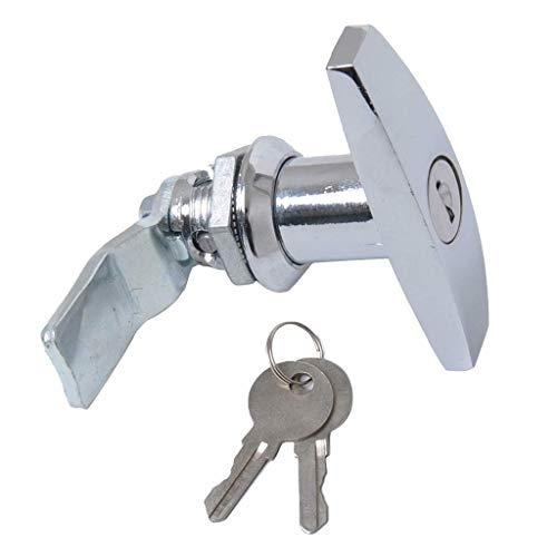 Tubayia Wasserdicht Türschloss Werkzeugkasten Schloss Tastensperre mit 2pcs Schlüssel für Anhänger Wohnmobile