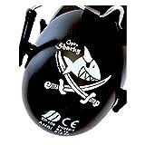 KÄPTN Sharky Piraten Kinder Kapsel Gehörschutz, größenverstellbar, faltbar, kindgerecht, CAPTN Sharky by KiddyPlugs