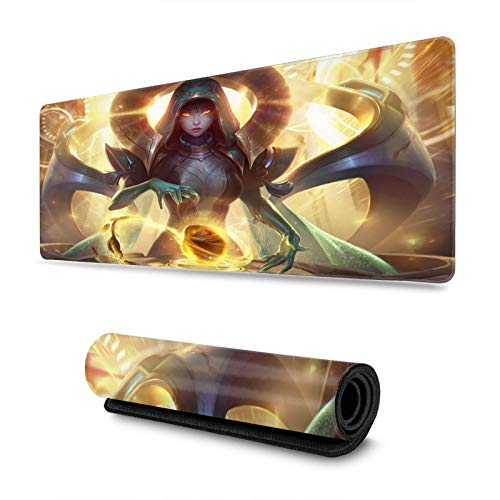Sona League Legends Large Gaming Mouse Pad with Water-Resistant Long Foldable Keyboard Mat for Work Gaming