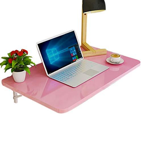 Mesa Abatible Pared Mesa Plegable Mesa plegable de pared rosa para dormitorio de habitación de niñas, escritorio de...