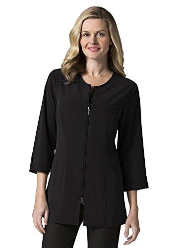 """Maevn Smart Lab Coats - Ladies 3/4"""" Sleeve Lab Jacket (Large, Black)"""