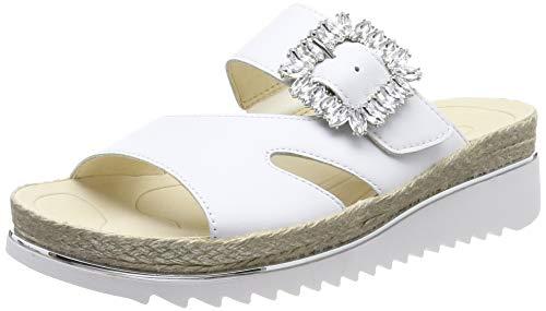 Gabor Shoes Damen Gabor Jollys Pantoletten, Weiß (Weiss 21), 40.5 EU