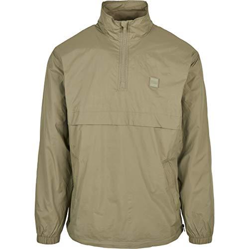 Urban Classics Stand Up Collar Pull Over Jacket Chaqueta, Caqui, S para Hombre