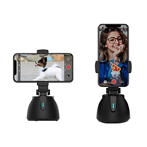 2021 Newest Smart Portable Selfie Stick,360°Rotation Auto Face Object Tracking Camera Tripod Holder Smart Shooting Cell Phone Camera Mount, Vlog Shooting Smartphone Mount Holder