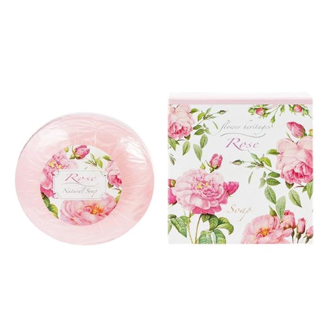 十二借りる議論するネイチャータッチ (Nature Touch) Flower Heritage ソープ120g/ローズ