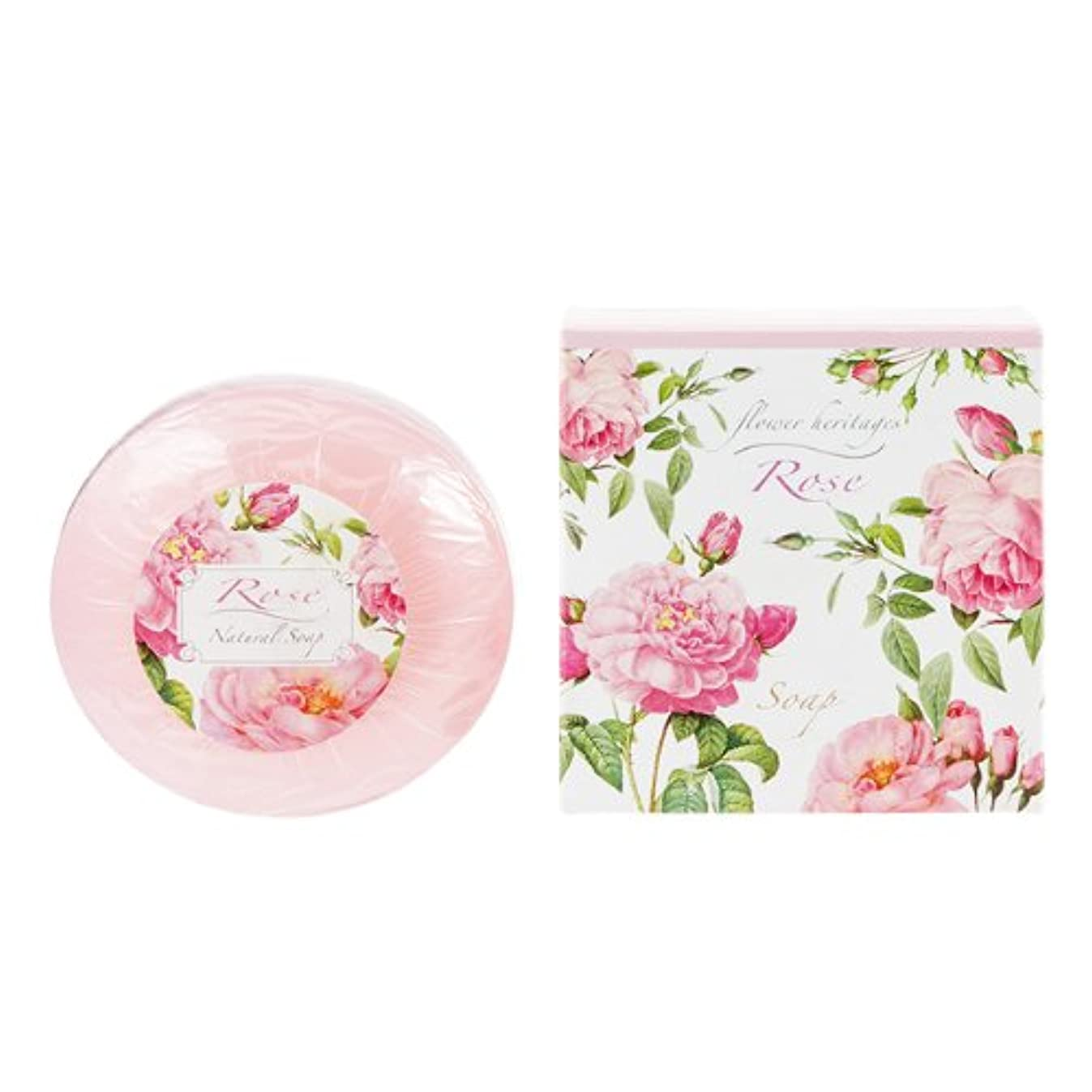 ステンレス箱悲しいネイチャータッチ (Nature Touch) Flower Heritage ソープ120g/ローズ