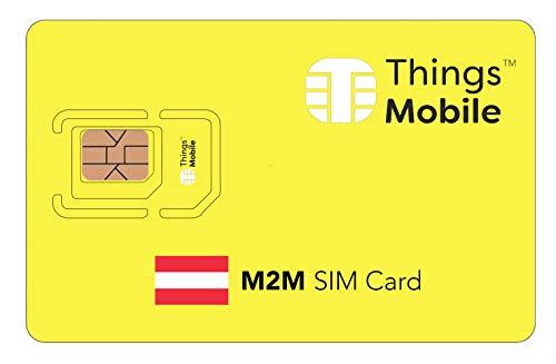 SIM-Karte für M2M ÖSTERREICH - Things Mobile - weltweite Netzabdeckung, Mehrfachanbieternetz GSM/2G/3G/4G, ohne Fixkosten. 10 € Guthaben inklusive