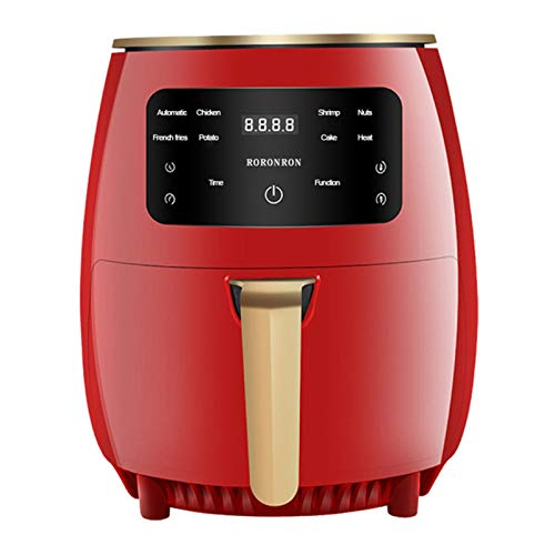 Aire Fryer Oil Free Health Fryer Cocina Multifunción Táctil Smart Touch LCD Profundo Airfryer Frit French Fries Pizza Freidora,Rojo