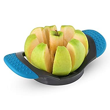 Apple Corer Slicer, Wedger,Cutter with Easy Rubber Grip Handle and Ultra Sharp Stainless Steel Blades.