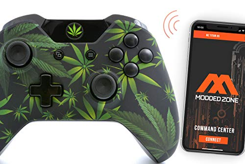 420 Black Smart Rapid Fire Custom Modded Controller for Xbox One S Mods FPS Games and More. Control Your mod via The MZ Titan APP