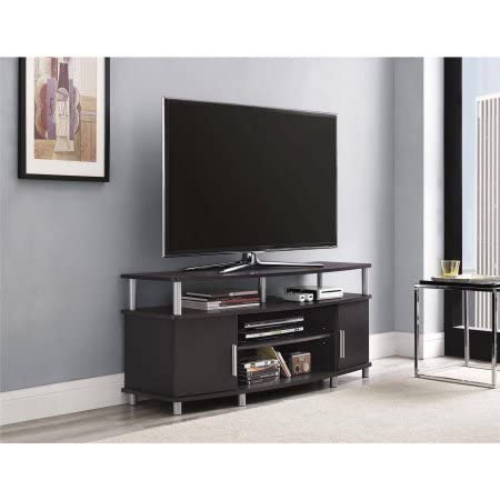 Amazon Com Carson 1195196 Tv Stand For Tvs Up To 50 Espresso Tv Table Furniture Decor