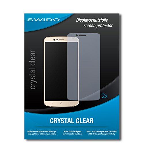 SWIDO Schutzfolie für Elephone P8000 4G [2 Stück] Kristall-Klar, Hoher Festigkeitgrad, Schutz vor Öl, Staub & Kratzer/Glasfolie, Bildschirmschutz, Bildschirmschutzfolie, Panzerglas-Folie