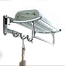 FORTUNE Classic Stainless Steel Folding Towel Rack for Bathroom | Towel Stand | Towel Hanger | Bathroom Accessories (18 Inch)