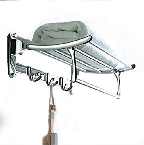 FORTUNE Stainless Steel Folding Towel Rack 18 inch Long for Bathroom Silver