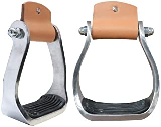 Showman Pony Youth Polished Aluminum Stirrup with Rubber Tread
