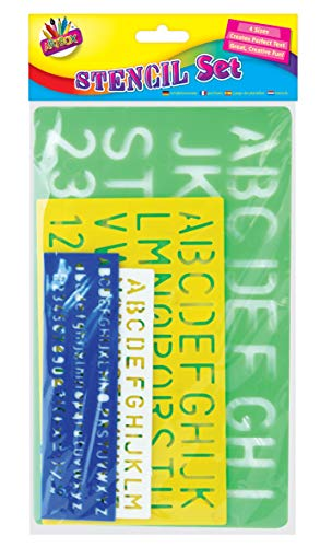 Artbox 4x Schablonen Buchstaben Alphabet Basteln Zahlen
