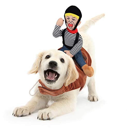 Idepet Dog Costumes, Dog Costumes for Small Medium Dogs, Cowboy Rider Pet Costumes for Halloween Day...