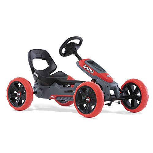 BERG Gokart Reppy Rebel | KinderFahrzeug, Tretauto mit Optimale Sicherheid, Soundbox im Lenkrad, Kinderspielzeug geeignet für Kinder im Alter von 2.5-6 Jahren
