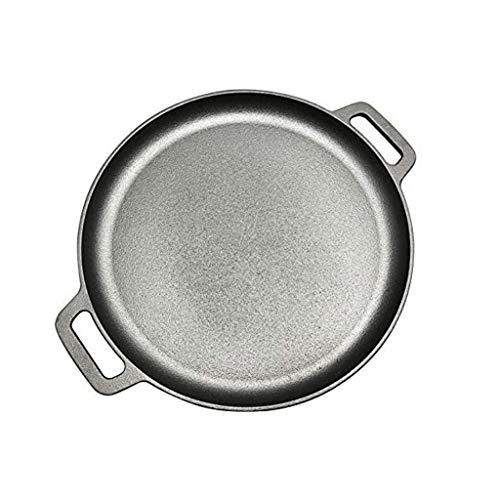 ECSWP Avezado sartén de hierro fundido con 2 mangos de contorno ergonómico - Freír la carne del asador Panroast Ronda sin recubrimiento de cocina