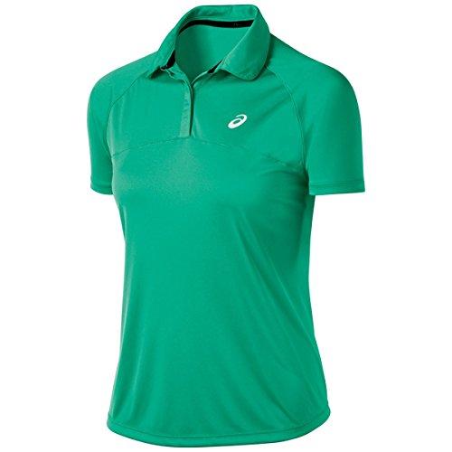 ASICS Women's Club Short Sleeve Polo, Cool Mint, X-Small