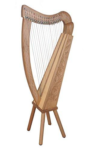 19 Saiten Boru Harfe Walnuss,19 Strings Boru Harp Walnut