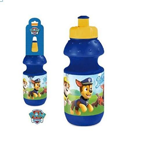 Nickelodeon Trinkflasche Wasserflasche, kompatibel zu Paw Patrol 1 Stück 400ml | Sportflasche | Kinderflasche | Geschenk |